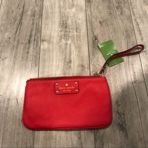 Kate Spade Zippered Chrissy Red Clutch